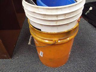 2  5 gallon buckets and 2  smaller buckets