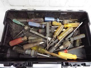 Husky carry tote w various screwdrivers