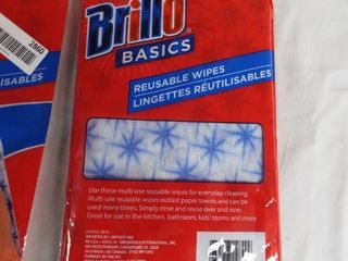 1  Brand new pack of Brillo reusable wipes   1 open