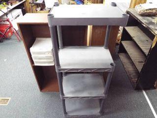 Plastic shelving unit  14 d x 22  w x 56  T