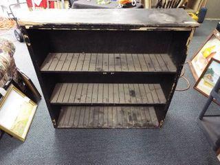 Wooden shelving unit  12 d x 43 1 2  w x 42  T