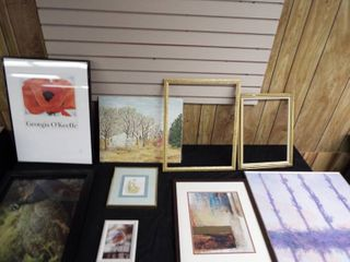 large lot of wall art   picture frames