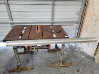 Heavy duty Ryobi 10  cast iron table saw