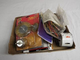 lot with wire wheels  thermostatic fan control  carbon steel jig saw blades and more