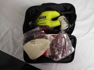 Ryobi sander with carry bag and sander sheets