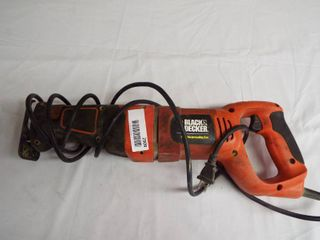 Black and Decker 7 5 A reciprocating saw  model   RS500