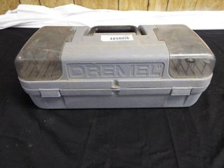 Dremel case with attachments and 2 Black and Decker rotary tools