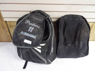 Easton backpack and a small bag