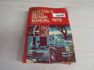 Chilton s auto repair manual 1978  american cars from 1971 1978