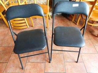 lot Of 6 Metal Folding Chairs With Vinyl Seat   Back