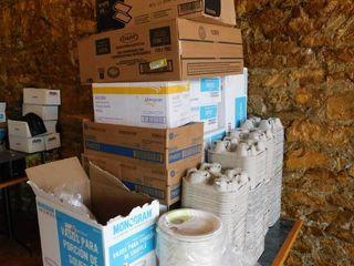 lot Of Paper   Plastic Goods