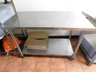 Rolling Stainless Work Table