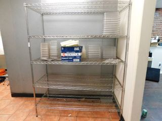 Silver Wire Metro Shelf