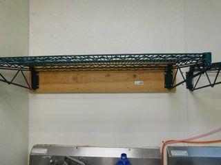 Green Wire Wall Mount Shelf