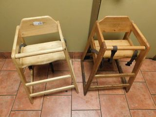 Two Wood High Chairs