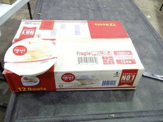 Box of Bowls of Cooked White Rice