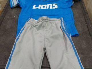 lions Football Uniform with Helmet