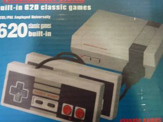 Classic NES Retro Video Game Console Built in 620 Games with 2 Classic Controllers