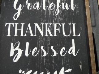Grateful Thankful Blessed  Wall Art