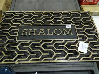 Shalom  Door Mat