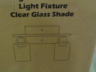 2 light Wall Sconce with Clear Glass Shades