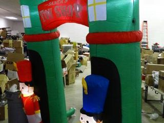 Inflatable Santa s Toy Shop Decoration