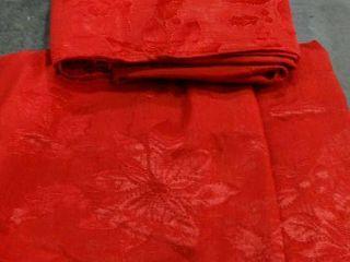 Pair of Poinsettia legacy Tablecloths