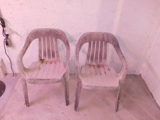 Pair of Plastic Outdoor Chairs