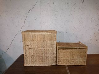 Nice Pair Of Wicket Baskets For Storage Etc