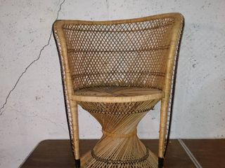 Beautiful Vintage Wicker Chair With Detailed Design In Great Shape