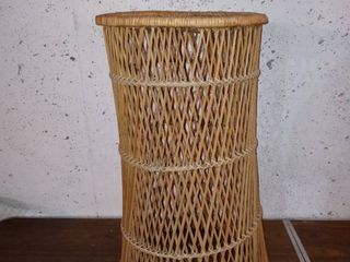 Nice Rattan Table Top Plant Stand In Decent Shape
