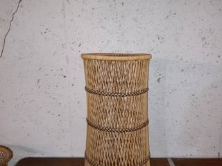 Nice Rattan Table Top Plant Stand In Great Condition