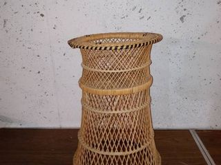 Free Standing Bohemian Style Wicker Stand