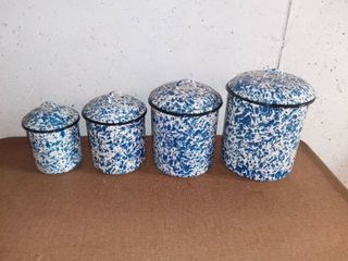 Set of 4 CGS International Enamel Containers
