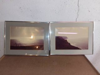 2 Coastline Pictures With Nice Chrome Frames