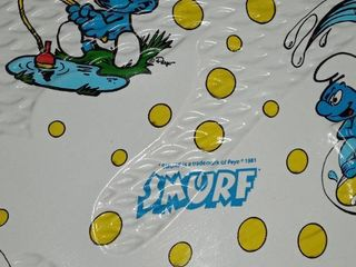 Very Cool Vintage Smurfs Plastic Baby Pool In Excellent Condition