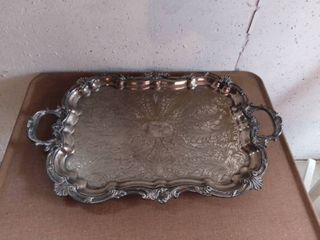 Beautiful Silver Plate Serving Tray