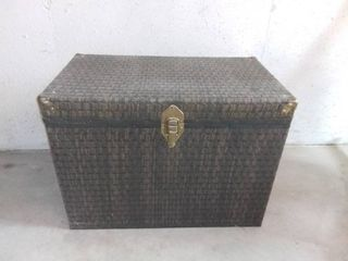 Wicker Trunk With Brass Corners and Clasp