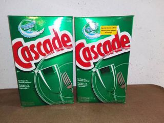 Two Unopened 9 68 Pound Boxes of Cascade Dishwasher Detergent