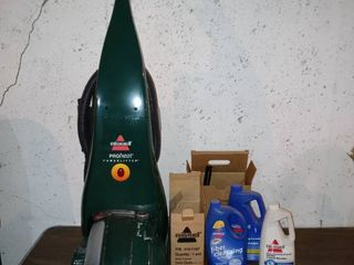 Very Nice Bissell Pro Heat Floor Cleaner With Attachment And Several Cleaning Products Tested And Working