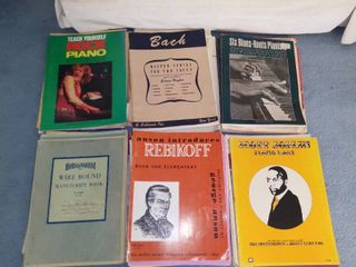 lot of Piano Books and Sheet Music