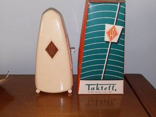 Vintage Taktell Metronome With Box