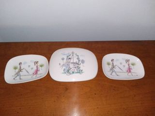Vintage Rosenthal Trinket Box and 2 Dishes  Rescue From The Well