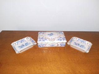 Schumann Bavaria lidded Cigarette Dish and Ashtrays
