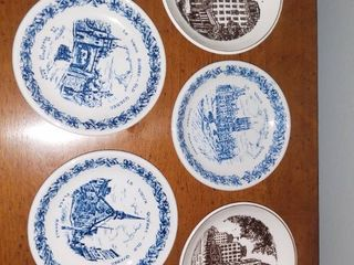 lot of 5 Small Decorative Dishes  Wedgewood and Woods and Sons