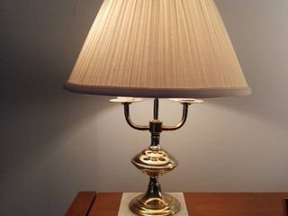 Cute Brass lamp With Marble Base