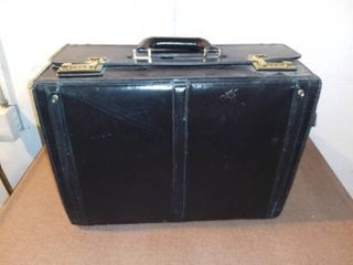 Franzen Black leather Briefcase With Combination