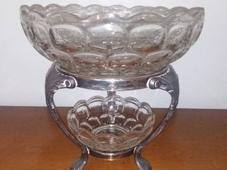 Fostoria and Silver Plate Bowl