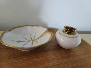 limoges France Jewelry Dish and Contempo lighter