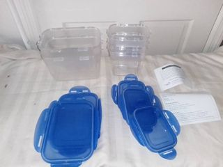 5 Piece lock and lock Plastic leftover Containers